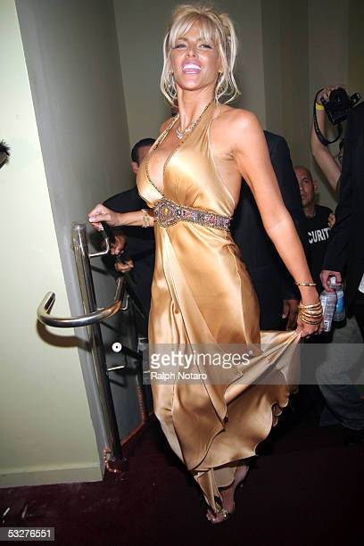 Anna Nicole Smith arrives for a Trimspa party at Passions Night Club at the Seminole Paradise Hard Rock Hotel and Casino on July 22 2005 in Hollywood...