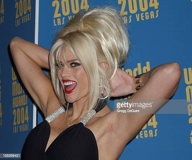 Anna Nicole Smith during 2004 World Music Awards Arrivals at The Thomas and Mack Center in Las Vegas Nevada United States