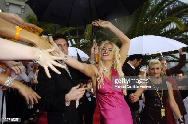 Anna Nicole Smith during 2005 MTV Australia Video Music Awards Red Carpet at Luna Park in Sydney New South Wales Australia