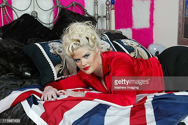 Anna Nicole Smith during At Home With Anna Nicole Smith at Anna Nicole Smiths' home in Los Angeles CA United States