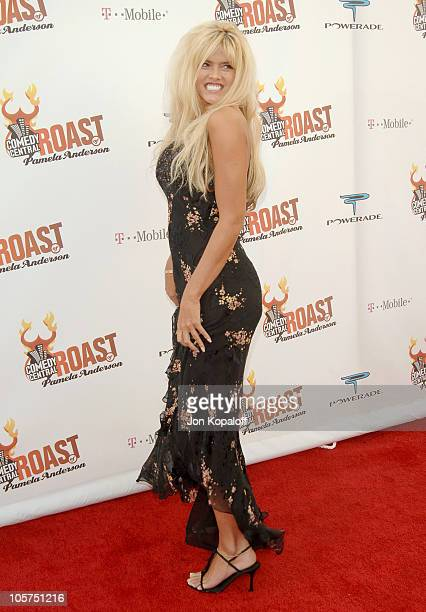 Anna Nicole Smith during Comedy Central Roast of Pamela Anderson Arrivals at Sony Studios / Stage 15 in Culver City California United States