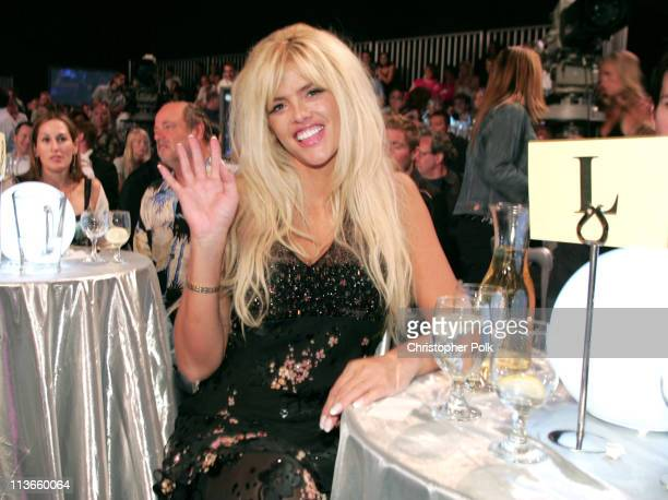 Anna Nicole Smith during Comedy Central Roast of Pamela Anderson Backstage Green Room and Audience at Sony Pictures Studios in Culver City California...