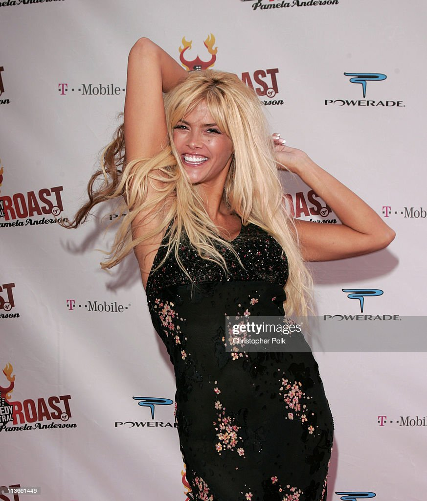 <a gi-track='captionPersonalityLinkClicked' href=/galleries/search?phrase=Anna+Nicole+Smith&family=editorial&specificpeople=156420 ng-click='$event.stopPropagation()'>Anna Nicole Smith</a> during Comedy Central Roast of Pamela Anderson - Red Carpet at Sony Studio in Culver City, California, United States.