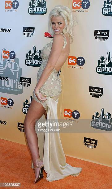 Anna Nicole Smith during 'GPhoria The Award Show 4 Gamers' at Shrine Auditorium in Los Angeles California United States