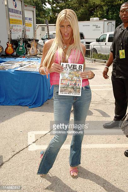 Anna Nicole Smith during LIVE 8 Philadelphia Backstage at Philadelphia Museum of Art in Philadelphia Pennsylvania United States