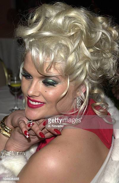 Anna Nicole Smith during Night of 100 Stars at Beverly Hills Hotel in Beverly Hills California United States