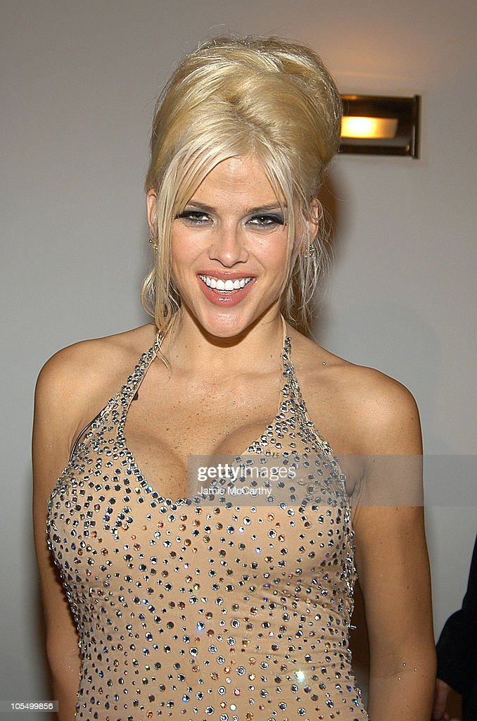 <a gi-track='captionPersonalityLinkClicked' href=/galleries/search?phrase=Anna+Nicole+Smith&family=editorial&specificpeople=156420 ng-click='$event.stopPropagation()'>Anna Nicole Smith</a> during Olympus Fashion Week Spring 2005 - Mao Magazine Launch Party at Altman Building in New York City, New York, United States.