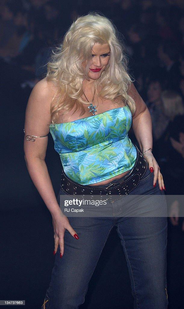 Anna Nicole Smith during 'The Big Kiss', Lane Bryant's '02 ...