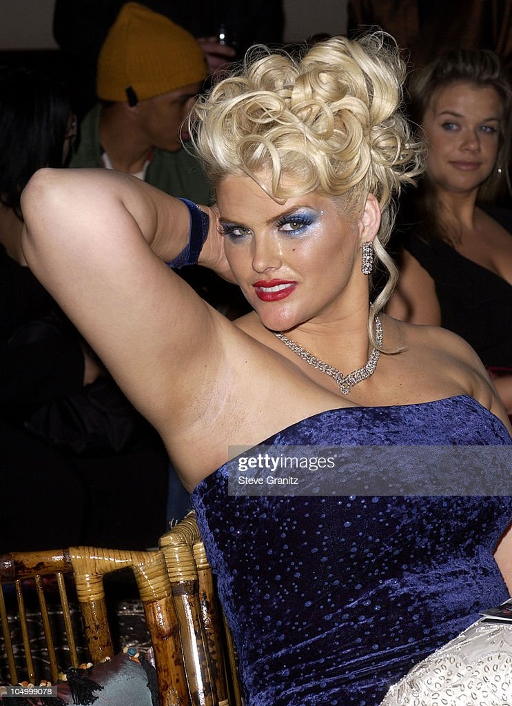 <a gi-track='captionPersonalityLinkClicked' href=/galleries/search?phrase=Anna+Nicole+Smith&family=editorial&specificpeople=156420 ng-click='$event.stopPropagation()'>Anna Nicole Smith</a> during Vanity Fair Toasts Guess? In Celebration Of The Dream Denim Makers 20th Anniversary at The Wilshire Ebell Theatre in Los Angeles, California, United States.