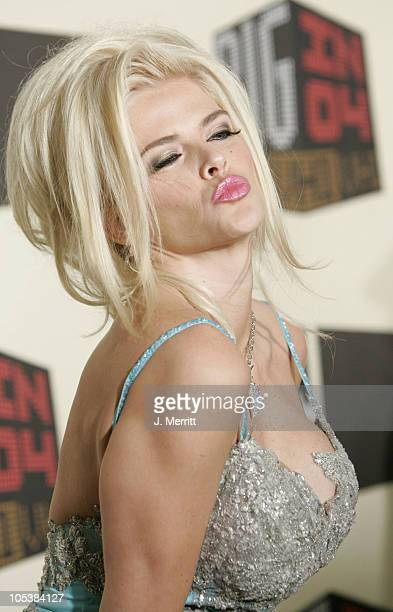 Anna Nicole Smith during VH1 Big in '04 Arrivals at Shrine Auditorium in Los Angeles California United States