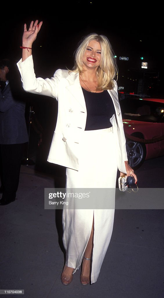 <a gi-track='captionPersonalityLinkClicked' href=/galleries/search?phrase=Anna+Nicole+Smith&family=editorial&specificpeople=156420 ng-click='$event.stopPropagation()'>Anna Nicole Smith</a> during 'Volcano' Premiere Party at May Company Store in Los Angeles, California, United States.