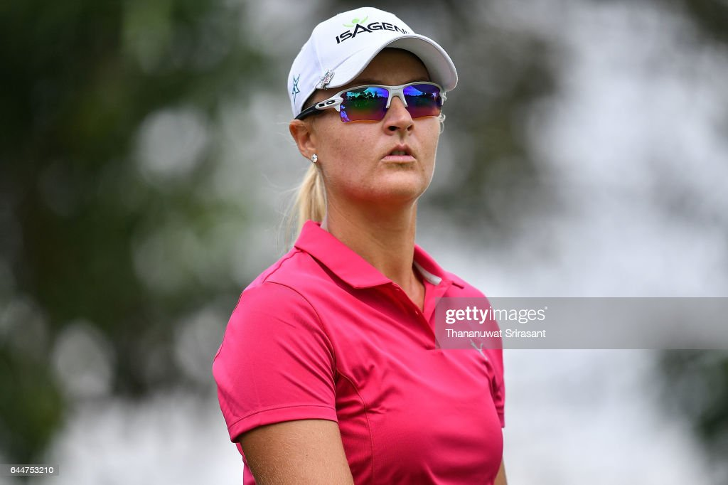 2018 honda lpga thailand. simple thailand anna nordqvist of sweden looks on during the honda lpga thailand at siam  country club to 2018 honda lpga thailand 0