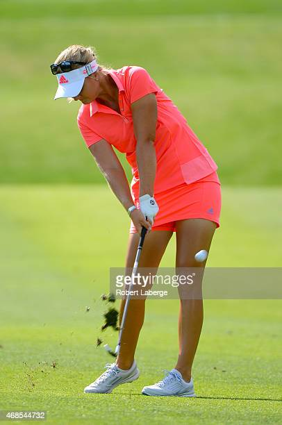 Anna Nordqvist of Sweden makes an approach shot on the 12th hole during round two of the ANA Inspiration on the Dinah Shore Tournament Course at...