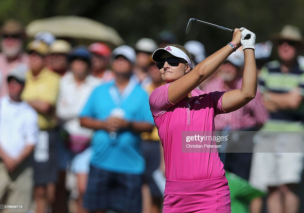<a gi-track='captionPersonalityLinkClicked' href=/galleries/search?phrase=Anna+Nordqvist&family=editorial&specificpeople=2259645 ng-click='$event.stopPropagation()'>Anna Nordqvist</a> of Sweden plays her third shot on the eighth hole during the second round of the JTBC LPGA Founders Cup at Wildfire Golf Club on March 21, 2014 in Phoenix, Arizona.