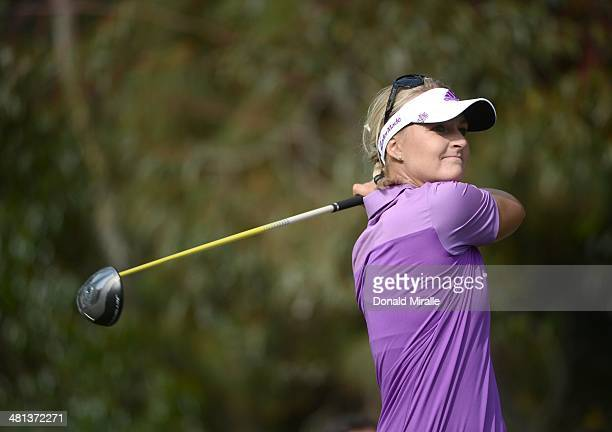 Anna Nordqvist of Sweden tees off the 17th hole during the third round of the KIA Classic at the Park Hyatt Aviara Resort on March 29 2014 in...
