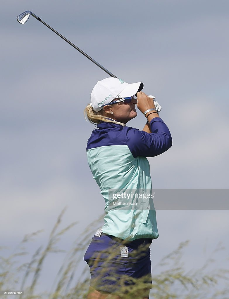 <a gi-track='captionPersonalityLinkClicked' href=/galleries/search?phrase=Anna+Nordqvist&family=editorial&specificpeople=2259645 ng-click='$event.stopPropagation()'>Anna Nordqvist</a> of Sweden watches her tee shot on the second hole during the Yokohama Tire Classic on May 05, 2016 in Prattville, Alabama.