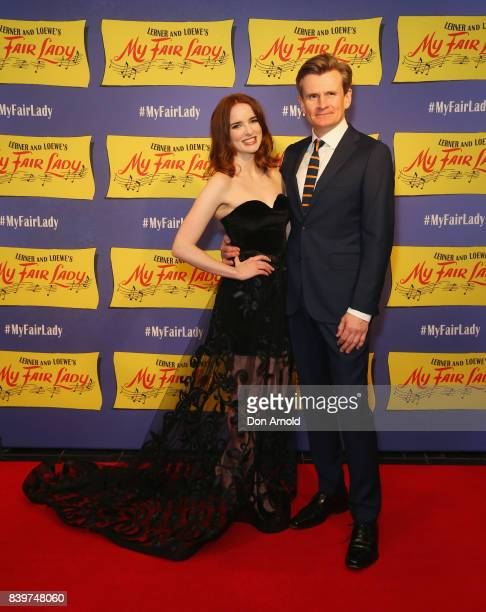 Anna O'Byrne and Charles Edwards arrive ahead of My Fair Lady premiere at Capitol Theatre on August 27 2017 in Sydney Australia