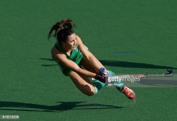 Anna O'Flanagan of Ireland passes the ball during day 3 of the FIH Hockey World League Semi Finals Pool A match between Ireland and Poland at Wits...