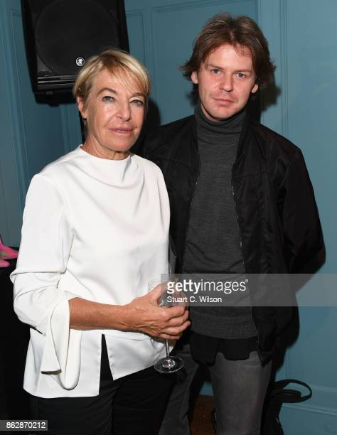 Anna Orsini and Christopher Kane at the launch of Liberty London's emerging fashion talent initiative #SarahsList with renowned fashion critic Sarah...