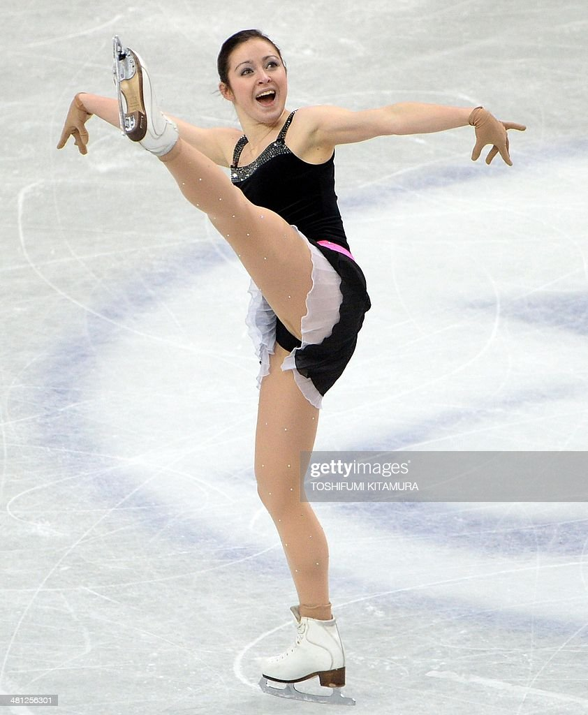 Anna Ovcharova of Switzerland performs during her free skating in the women's singles at the world figure skating championships in Saitama on March 29, 2014.
