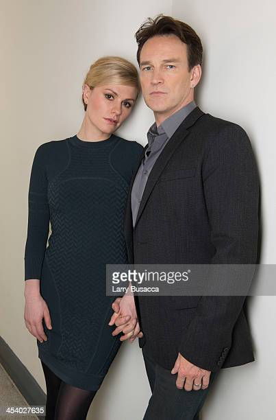 APPLY Anna Paquin and Stephen Moyer attend the 'Free Ride' photo call and press day on December 6 2013 in New York City