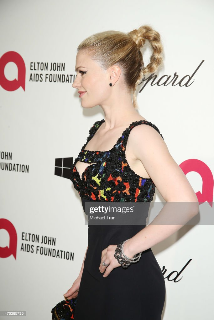 Anna Paquin arrives at the 22nd Annual Elton John AIDS Foundation's Oscar viewing party held on March 2 2014 in West Hollywood California
