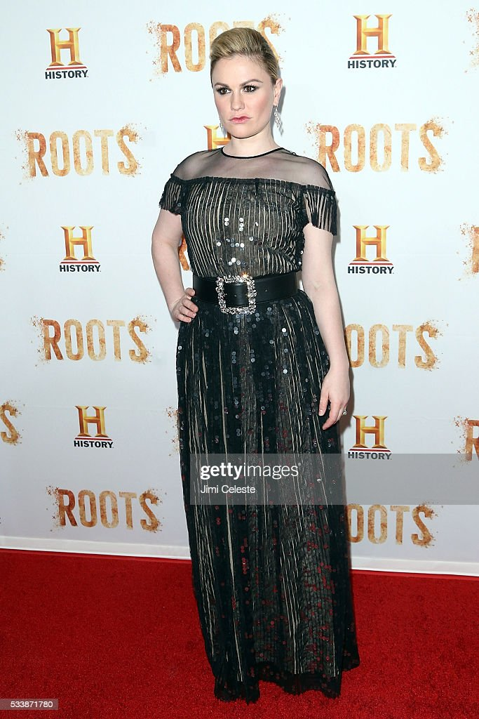 Anna Paquin attends as HISTORY presents night one of the epic event series 'Roots' at Alice Tully Hall on May 23 2016 in New York City