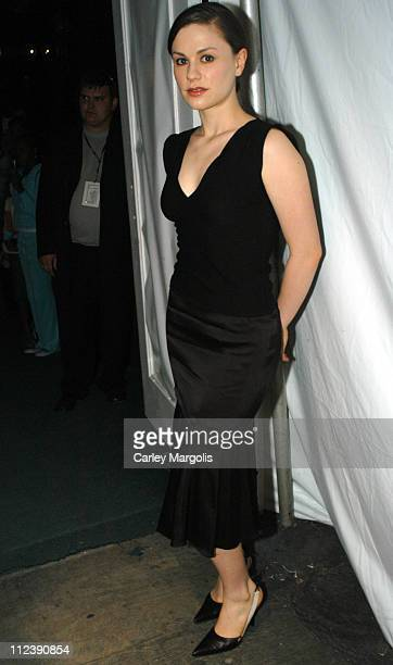 Anna Paquin during Olympus Fashion Week Spring 2005 Backstage September 14 2004 at Theater Tent Bryant Park in New York City New York United States