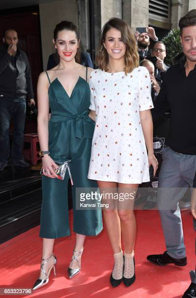 Anna Passey and Sophie Porley attend the TRIC Awards 2017 at the Grosvenor House on March 14 2017 in London United Kingdom
