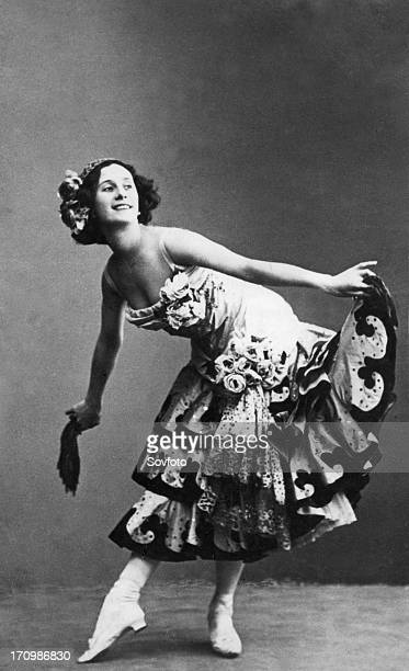 Anna pavlova legendary russian ballerina in don quixote ballet st petersburg russia