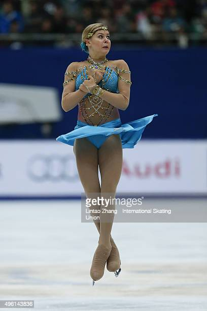 Anna Pogorilaya of Russia competes in the Ladies Short Program on day two of Audi Cup of China ISU Grand Prix of Figure Skating 2015 at Beijing...