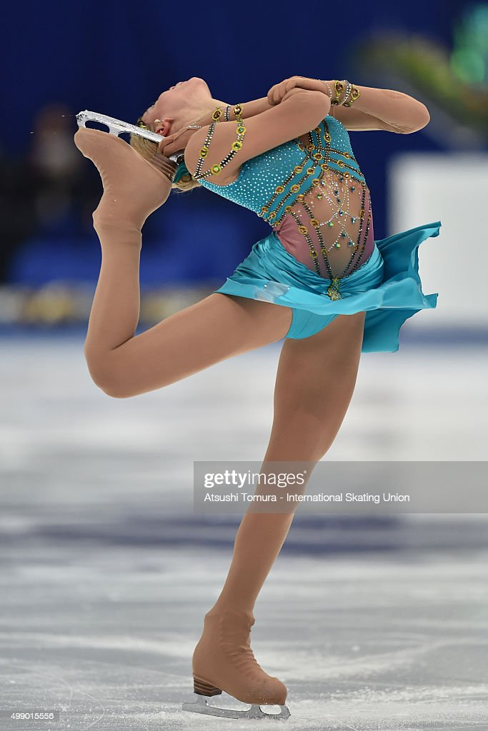 <a gi-track='captionPersonalityLinkClicked' href=/galleries/search?phrase=Anna+Pogorilaya&family=editorial&specificpeople=10062042 ng-click='$event.stopPropagation()'>Anna Pogorilaya</a> of Russia competes in the ladies's free skating during the day two of the NHK Trophy ISU Grand Prix of Figure Skating 2015 at the Big Hat on November 28, 2015 in Nagano, Japan.