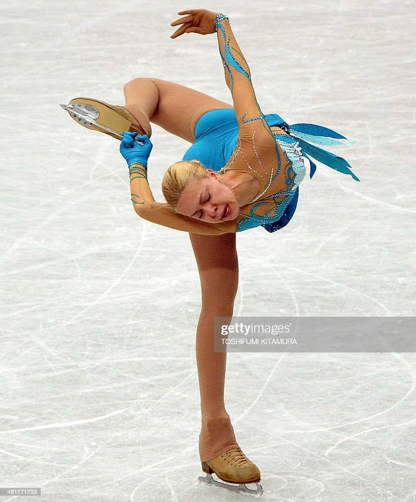 Anna Pogorilaya of Russia performs during her women's singles free skating event at the world figure skating championships in Saitama on March 29, 2014.