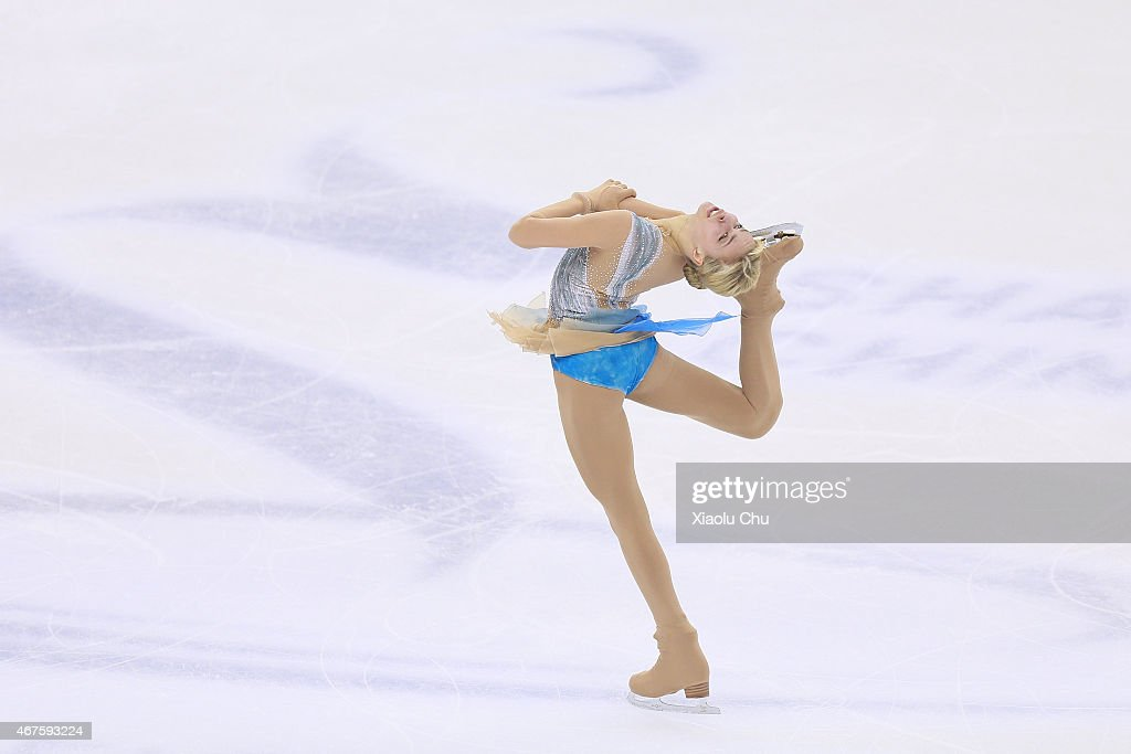<a gi-track='captionPersonalityLinkClicked' href=/galleries/search?phrase=Anna+Pogorilaya&family=editorial&specificpeople=10062042 ng-click='$event.stopPropagation()'>Anna Pogorilaya</a> of Russia performs during the Ladies Short Program on day two of the 2015 ISU World Figure Skating Championships at Shanghai Oriental Sports Center on March 26, 2015 in Shanghai, China.