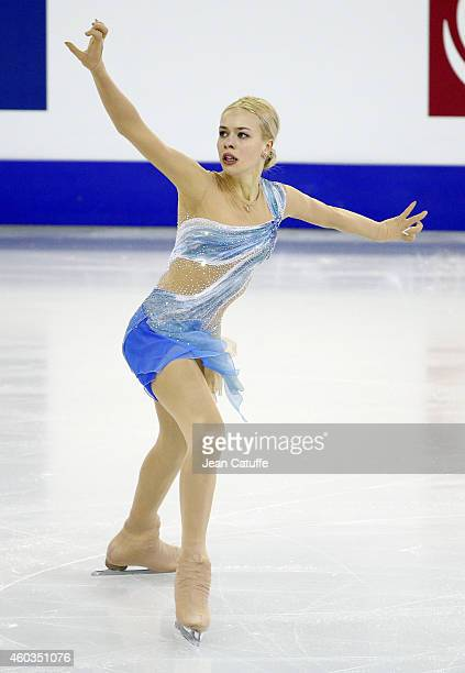 Anna Pogorilaya of Russia performs during the Ladies Short Program Final on day one of the ISU Grand Prix of Figure Skating Final 2014/2015 at...