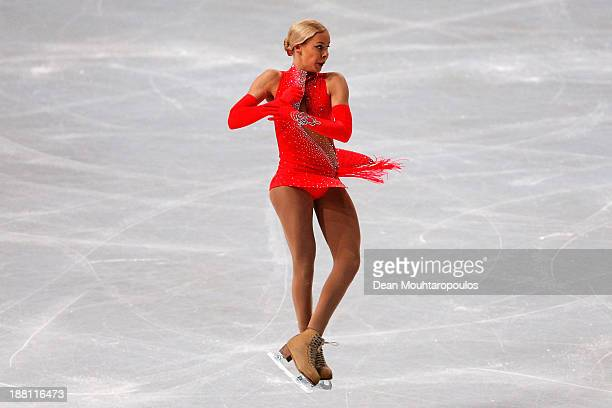 Anna Pogorilaya of Russia performs in the Ladies Short Program during day one of Trophee Eric Bompard ISU Grand Prix of Figure Skating 2013/2014 at...