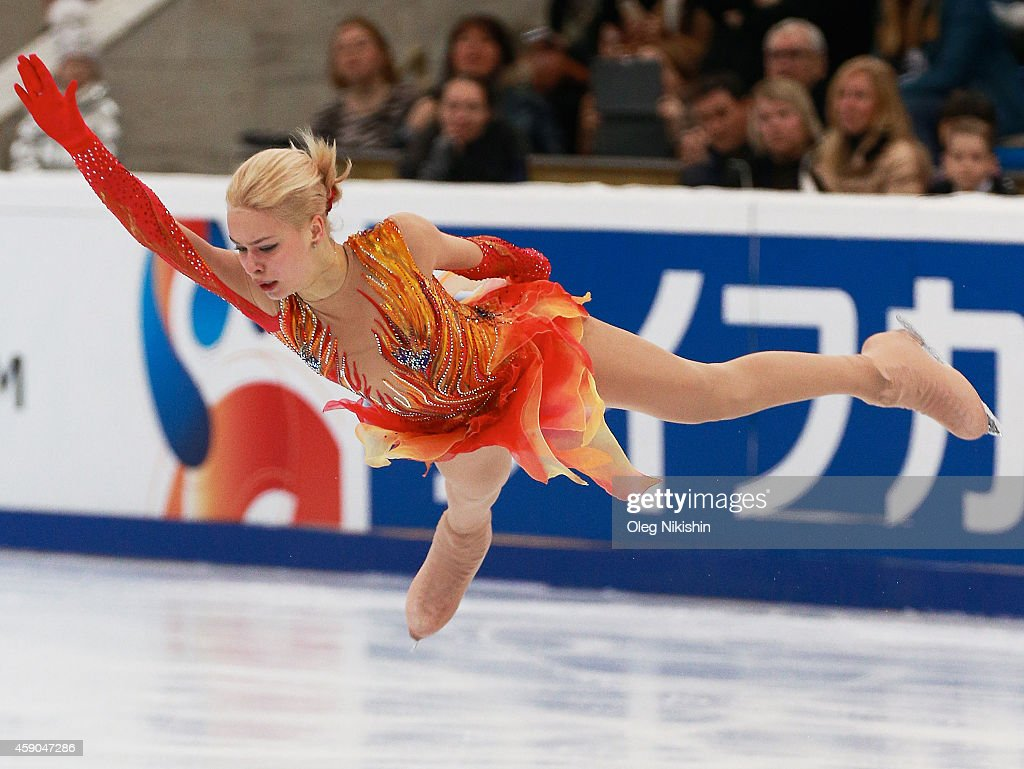 <a gi-track='captionPersonalityLinkClicked' href=/galleries/search?phrase=Anna+Pogorilaya&family=editorial&specificpeople=10062042 ng-click='$event.stopPropagation()'>Anna Pogorilaya</a> of Russia skates in the Ladie's Free Skate during the ISU Rostelecom Cup of Figure Skating 2014 on November 15, 2014 in Moscow, Russia.