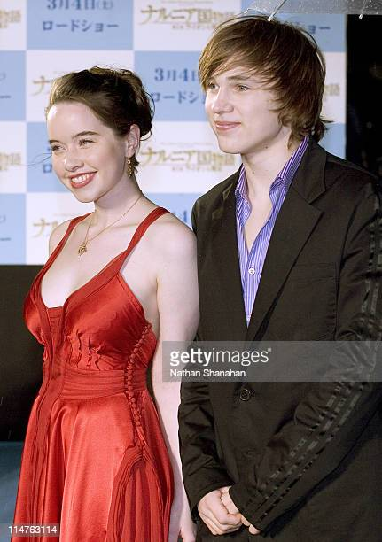 Anna Popplewell and William Moseley during 'The Chronicles of Narnia The Lion the Witch and the Wardrobe' Tokyo Premiere at Nippon Budokan in Tokyo...
