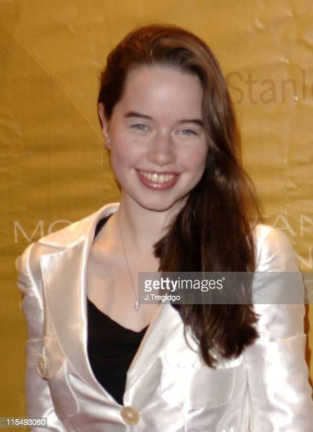 Anna Popplewell during Morgan Stanley Great Britons 2005 at Guildhall in London Great Britain