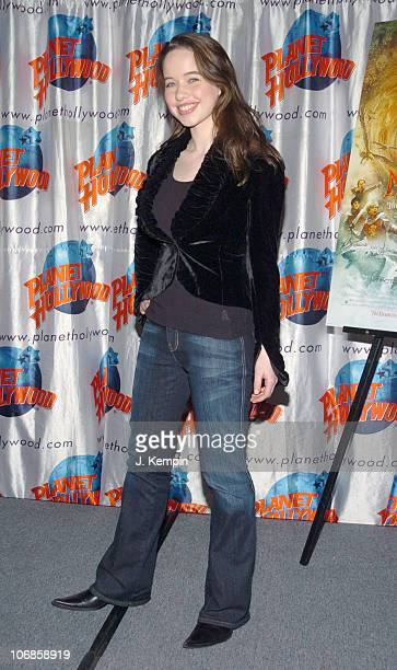 Anna Popplewell during The Cast of 'The Chronicles of Narnia' Donates Memorabila at Planet Hollywood in Times Square December 9 2005 at Planet...