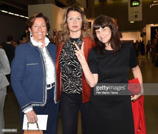 Anna Porta Maria Luisa Trussardi and Paola Manfrin the Miart Fair 2017 at Fiera Milano City on March 30 2017 in Milan Italy