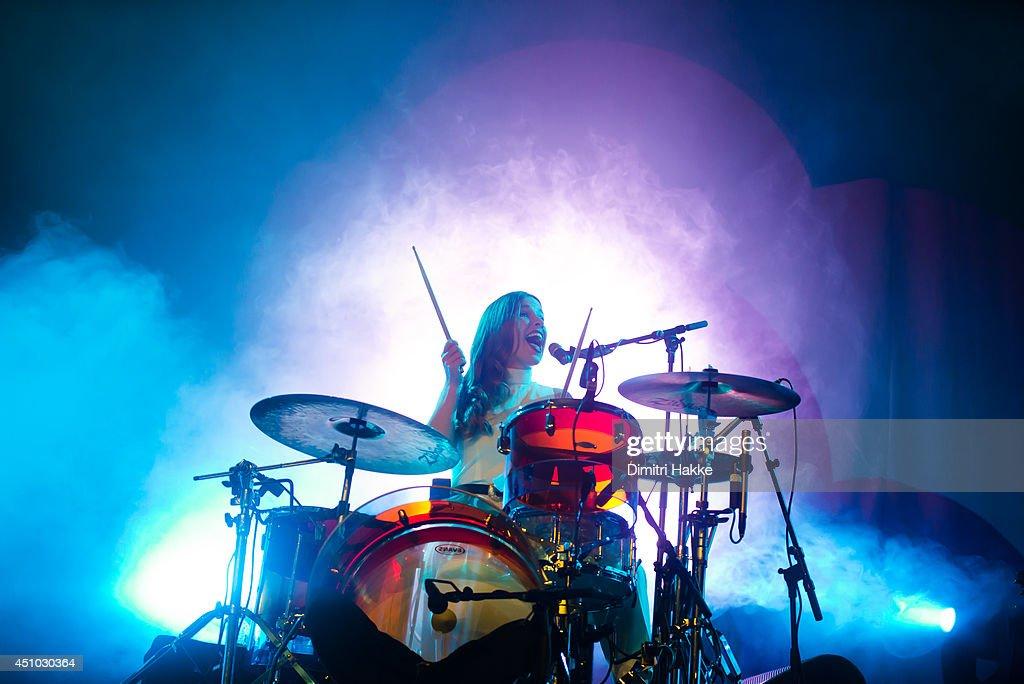 Anna Prior of Metronomy performs on stage at Best Kept Secret Festival on June 21, 2014 in Hilvarenbeek, Netherlands.