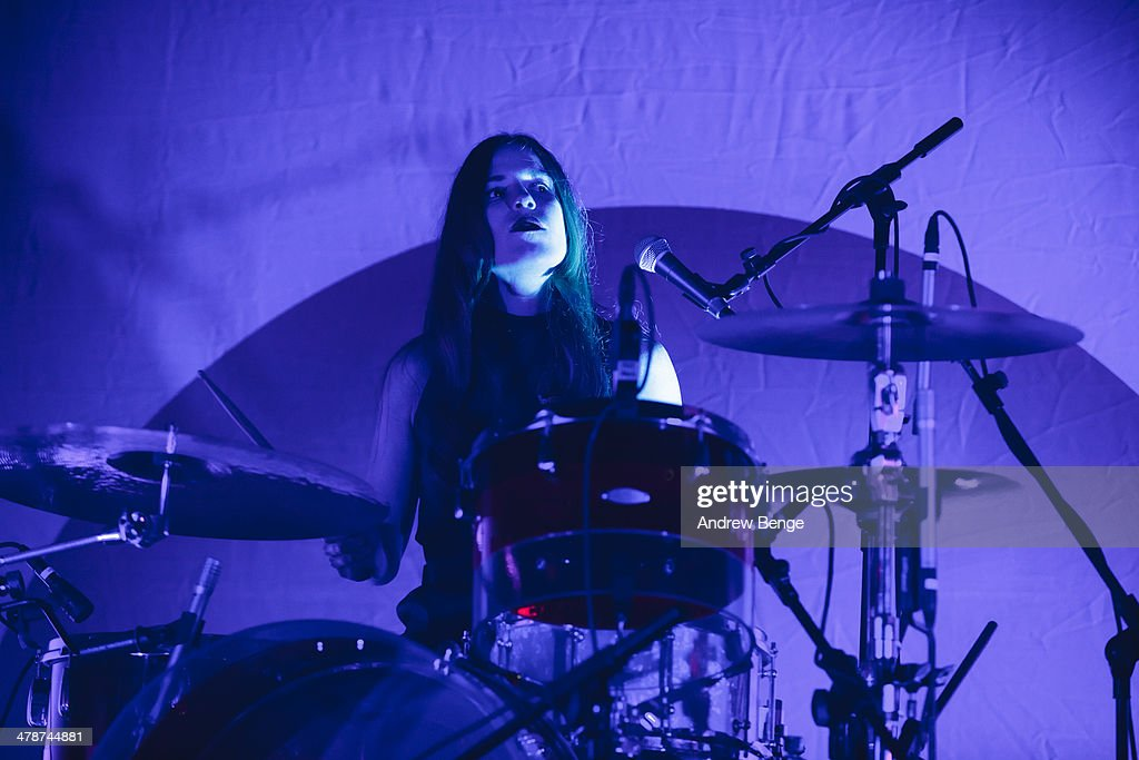 Anna Prior of Metronomy performs on stage at Ritz Manchester on March 14, 2014 in Manchester, United Kingdom.
