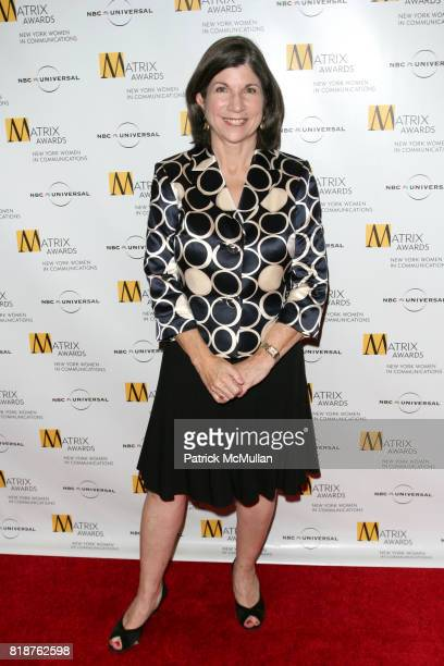 Anna Quindlen attends New York WOMEN IN COMMUNICATIONS Presents The 2010 MATRIX AWARDS at Waldorf Astoria on April 19 2010 in New York City