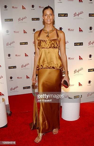 Anna Rawson during G'Day LA Penfolds Gala Black Tie Dinner at Wiltern Theatre in Los Angeles California United States