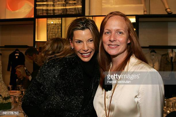 Anna Rhodes and Anne Grauso attend The Camellia Luncheon Sponsored by Chanel to benefit The New York Botanical Garden at Chanel on October 25 2005 in...