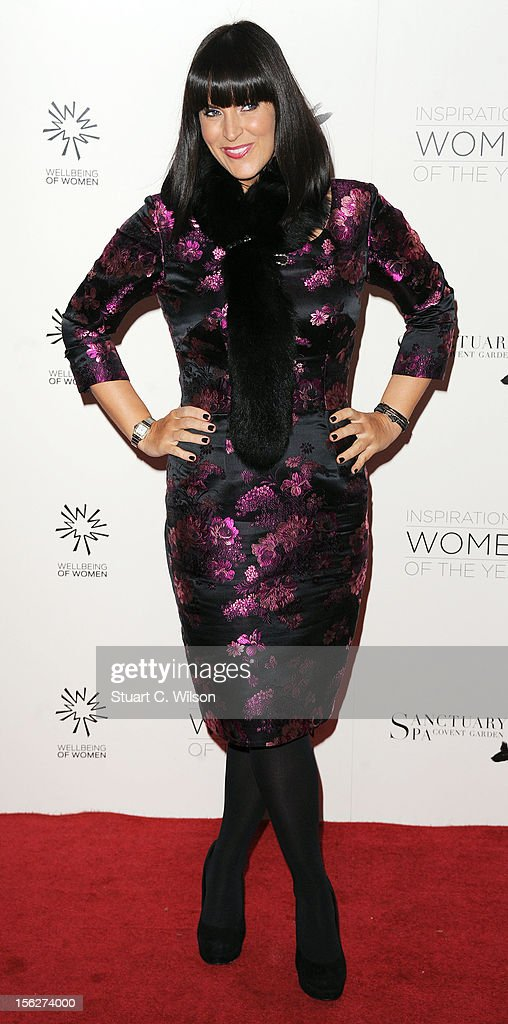 Anna Richardson attends The Daily Mail Inspirational Women of the Year Awards sponsored by Sanctuary Spa and in aid of Wellbeing of Women at Marriott Hotel Grosvenor Square on November 12, 2012 in London, England.