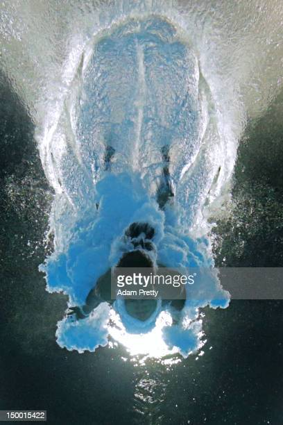 Anna Rivera of Cuba competes in the Women's 10m Platform Diving Preliminary on Day 12 of the London 2012 Olympic Games at the Aquatics Centre on...