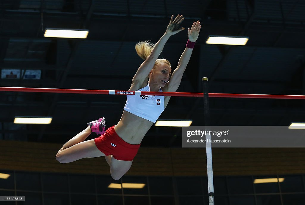<a gi-track='captionPersonalityLinkClicked' href=/galleries/search?phrase=Anna+Rogowska&family=editorial&specificpeople=790729 ng-click='$event.stopPropagation()'>Anna Rogowska</a> of Poland competes during the Women's Pole Vault final during day three of the IAAF World Indoor Championships at Ergo Arena on March 9, 2014 in Sopot, Poland.