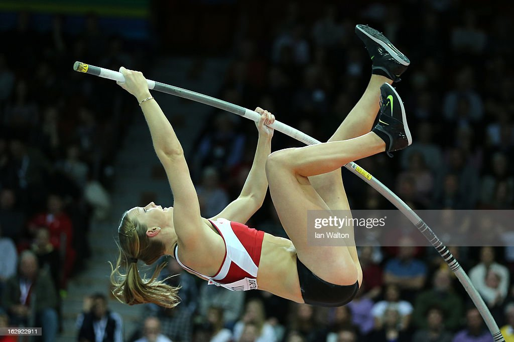 <a gi-track='captionPersonalityLinkClicked' href=/galleries/search?phrase=Anna+Rogowska&family=editorial&specificpeople=790729 ng-click='$event.stopPropagation()'>Anna Rogowska</a> of Poland competes in the Women's Pole Vault Qualification during day one of the European Athletics Indoor Championships at Scandinavium on March 1, 2013 in Gothenburg, Sweden.
